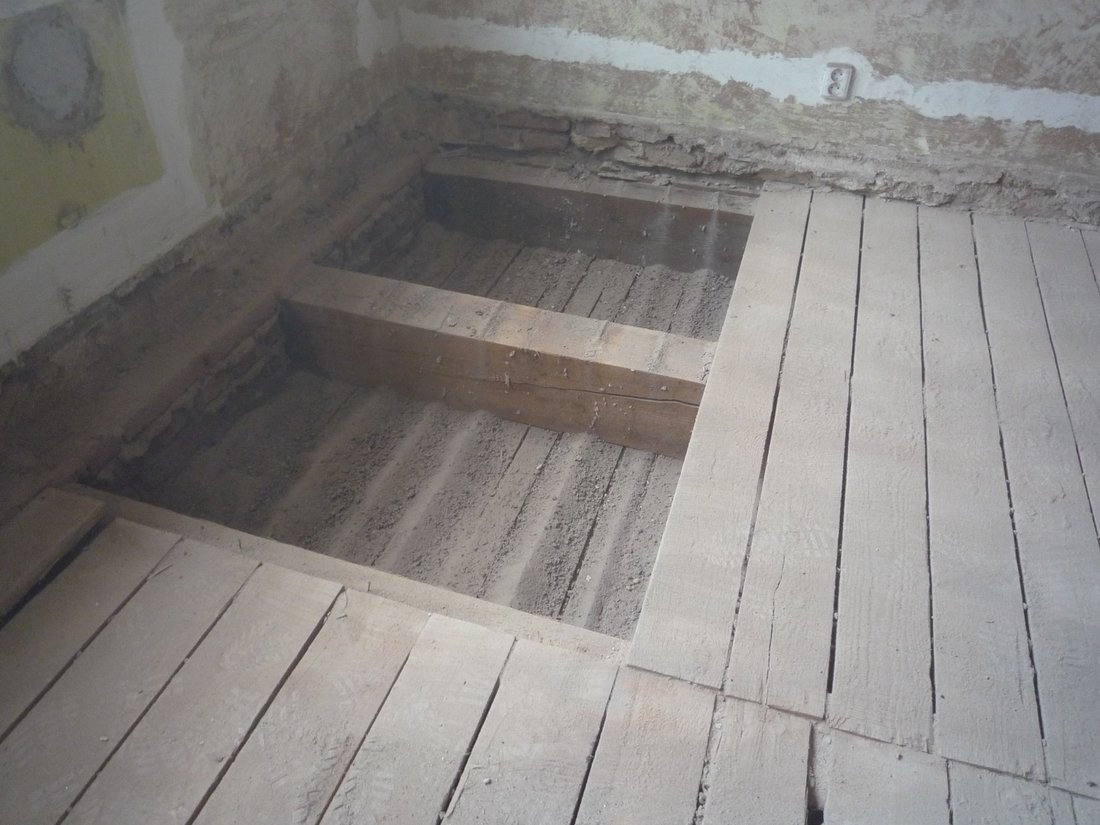 Trámový strop rekonstrukce
