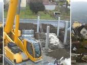 Přenos ze stavby administrativní budovy Fenix v Jeseníku, zdroj TZB-info