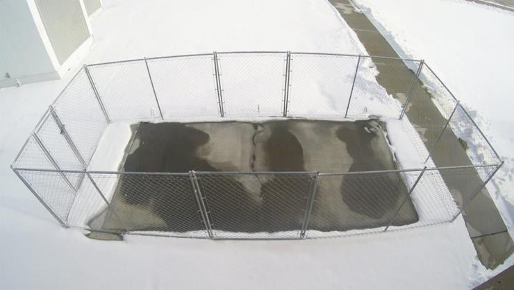 Konduktivní beton zabraňuje namrzání sněhu