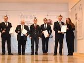 Předávání bronzové medaile v soutěži Známka kvality VÝROBEK - TECHNOLOGIE pro stavitelství a architekturu 2017 za litý cementový potěr CEMFLOW
