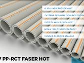 FV PP-RCT Faser HOT, odolná trubka vyztužená skelným vláknem vyvinutá pro rozvody teplé vody a topení