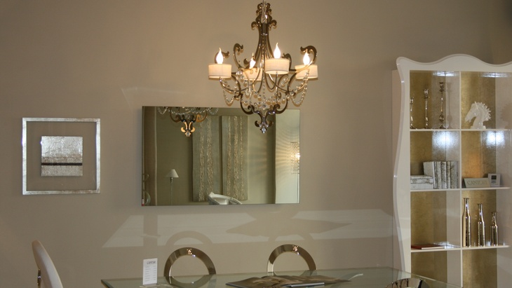 Wellina infrapanel v provedení zrcadlo na stěně příkon 900 W