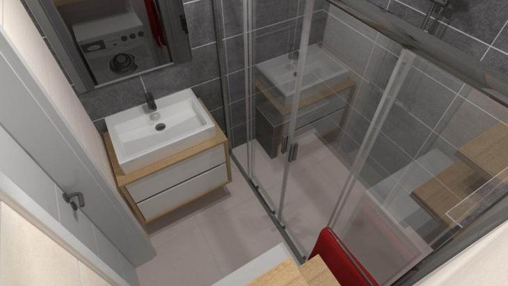 Ukázka 3D návrhu koupelny, zdroj: Alca plast